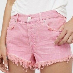 Free People Pink Soft & Relaxed Cutoff Shorts 25